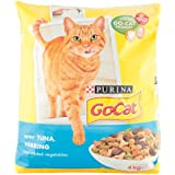 Go-Cat Adult Tuna, Herring and Vegetable Dry Cat Food, 4 kg (Pack of 2)