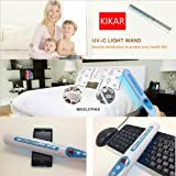 Portable UV Sanitizer Hand Wand Ultra Violet Light Kill Bacteria & Germ Sterilizer (Blue)