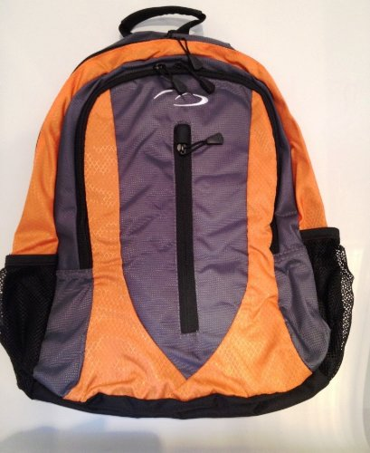 Daypack - School College Work Travel Gym Hiking Backpack Rucksack Bag (Orange and Black)