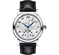 Montblanc Star Twin Moonphase Automatic Silver Dial Black Leather Mens Watch 110642 from Montblanc