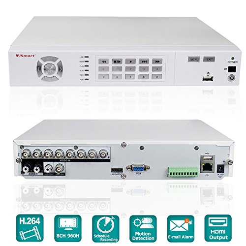 iSmart 8 Channel H.264 Full 960H HDMI DVR with Alarm and PTZ...
