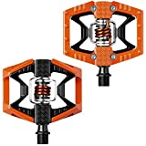 Crank Brothers Double Shot Pedals, Orange/Black/Orange Spring (Color: Orange/Black/Orange Spring, Tamaño: One Size)