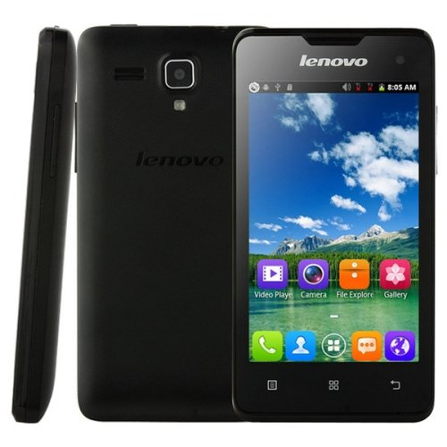 Lenovo A396 Unlocked Smartphone 4.0 Inch SC7730 Quad Core 1.2GHz,Android OS 2.3 256MB RAM + 512MB ROM WCDMA & GSM (Black) (Lenovo A396 Quad Core compare prices)