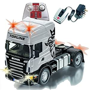 siku 6724 v hicule radio command camion scania avec batterie et t l commande 1 32 me. Black Bedroom Furniture Sets. Home Design Ideas