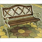 DC America SL5725CO-DS Lily Oak Inlay Park Bench