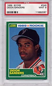 1989 Score Deion Sanders Rookie Atlanta Falcons #246 PSA 9 MINT (Football Cards) by SCORE