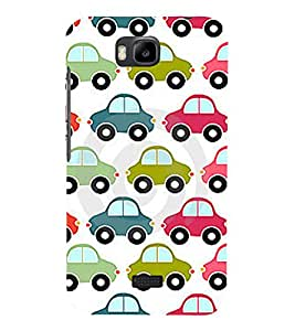 printtech Car Pattern Back Case Cover for Huawei Y5c