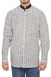 Men's Casual Printed Shirt_9whiteprntd_White_M