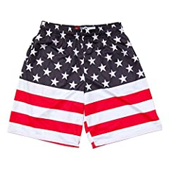 American Flag 50/50 Lacrosse Shorts