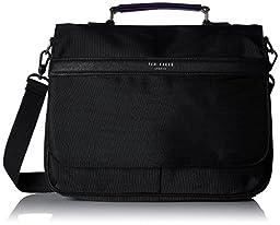Ted Baker Men's Core Nylon Document Bag, Jet, One Size