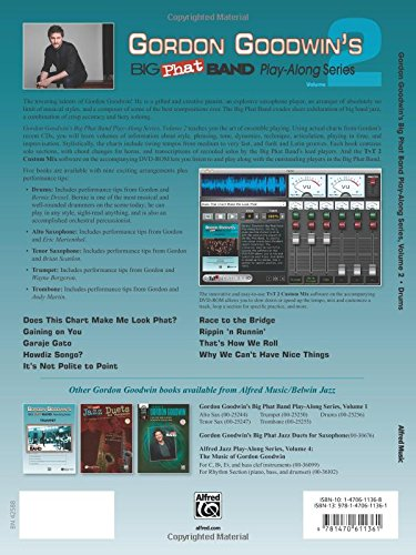 Gordon Goodwin's Big Phat Play Along, Vol 2: Drums, Book & DVD-ROM (Play-Along Series)
