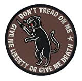 """3.8"""" DTOM Mad Cat Iron-On Patch Don't Tread On Me 2nd Amendment Right to Bear Arms NRA Swiss Army Knife Survival Supplies Prepper"""