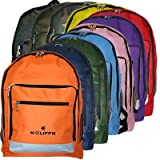 17 inch K-Cliffs Polyester School Backpack/ Outdoor Backpack/ Hiking Backpack with Reflective Strip
