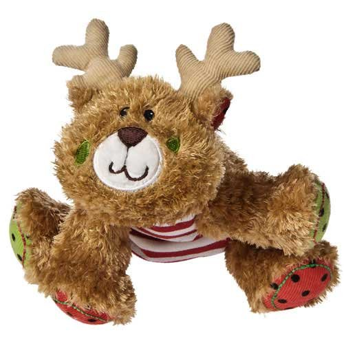 "Mary Meyer Holiday Cheery Cheeks Lil' Hoofin' Reindeer 6"" Plush Toy front-1029868"