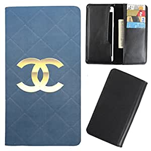 DooDa - For Spice Stella 445 PU Leather Designer Fashionable Fancy Case Cover Pouch With Card & Cash Slots & Smooth Inner Velvet