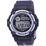 Casio Baby-G BG-3002V-2AER Women's Digital Quartz Watch with Blue Dial and Blue Fabric Strapby Baby-G