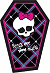 Monster High Thank-You Notes 8 Cards Birthday Party Supplies Girl