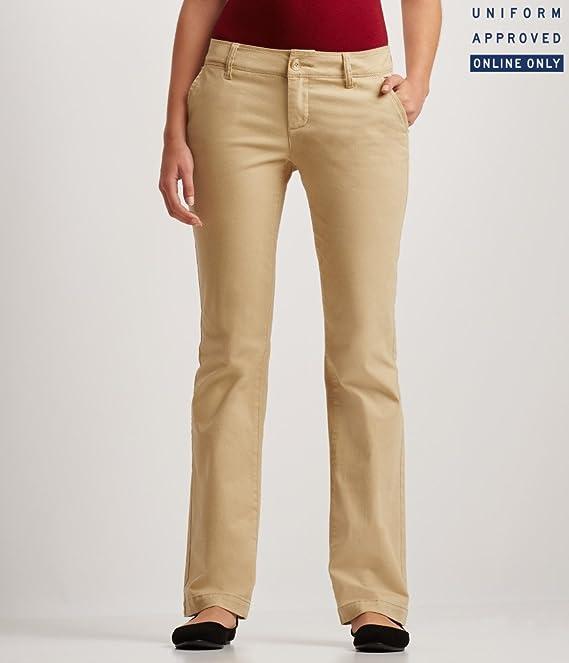 Aeropostale Women's Curvy Core Twill Pants