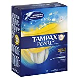 Tampax Pearl Tampons, Plastic, Regular Absorbency, Unscented, 18 tampons