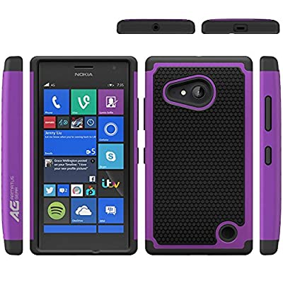 Microsoft Nokia Lumia 730 / 735 Case - Armatus Gear (TM) Slim Defender Hex Grid Hybrid Armor Case Impact Resistant Protector Cover For Nokia Lumia 730 / Lumia 735 from Armatus Gear