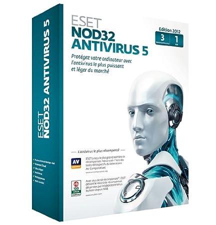 Eset Nod 32 Antivirus 5 (3 postes, 1 an)
