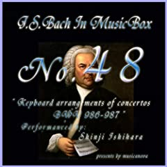 Bach In Musical Box 48 / Keyboard Arrangements Of Concertos Bwv 986 - 987