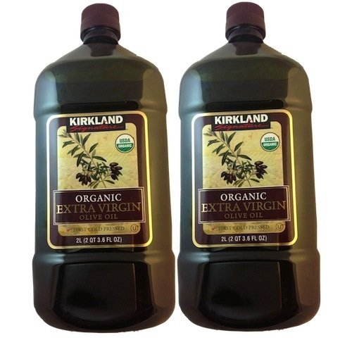 2 x Kirkland Signature Organic Extra Virgin Olive Oil, 2 Liters by Kirkland Signature