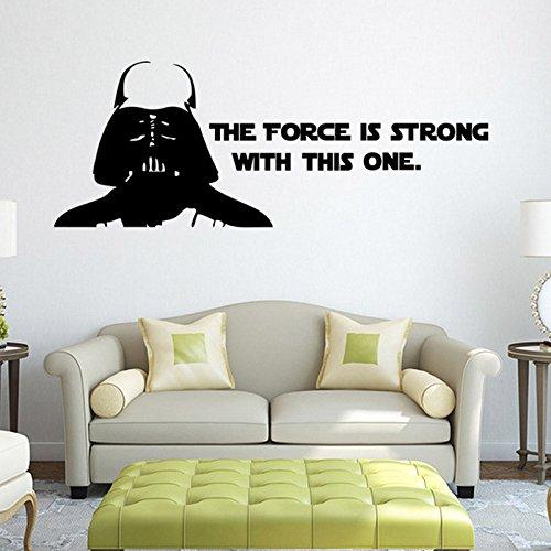 [Starwar Darth Vader Removable Wall Stickers Home Room Vinyl Mural DIY Decal Kid Bedroom Art Decor] (Diy Wario Costume)