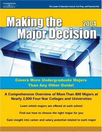 Making the Major Decision 2004 (Peterson's Making the Major Decision)