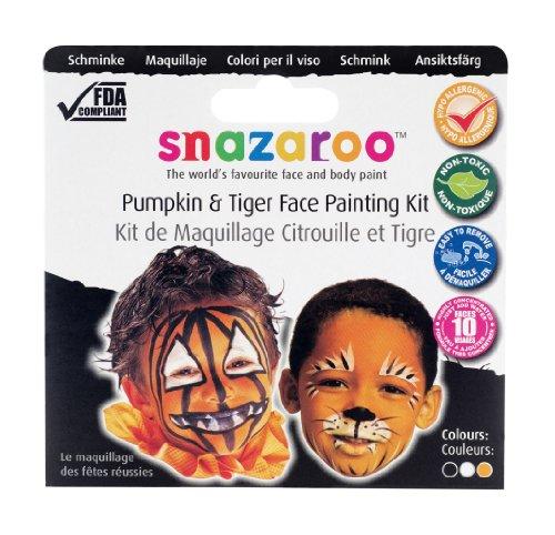 Oasis Snazaroo - Face Paint - Fiery Tiger Pumpkin Snazaroo