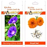 Alkarty Morning Glory And Marigold Seeds Pack Of 20 (summer)