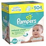 Pampers Natural Clean Wipes 7x Box