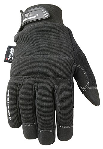 Wells Lamont Black Winter Gloves with Touch Screen Capability, 80-gram Thinsulate Insulation, Large (7760L) (Insulated Touch Screen Gloves compare prices)