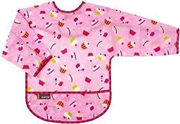 Kushies Waterproof Bib with Sleeves - Toddler Cupcake - Girl