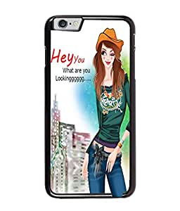 Fuson Smart Girl Back Case Cover for APPLE IPHONE 6 PLUS - D4023