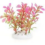 FACILLA® Plante Artificielle Aquatique en Plastique Rose-vert Décoration Aquarium