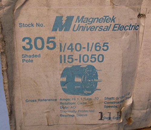 Universal Electric 1/40-1/65 5/16X 2 1/2 Motor 305 Nib
