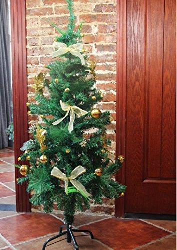 クリスマス ツリー オーナメント ミニクリスマスツリー 飾りセット 自分DIY プラスチックボール付き120cm lifine (ゴールド)