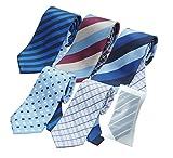 (グリニッジ ポロ クラブ) GREENWICH POLO CLUB ネクタイ 5本セット 洗濯ネット付き