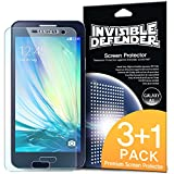 Galaxy A3 Screen Protector - Invisible Defender [3+1 Free/MAX HD CLARITY] Lifetime Warranty Perfect Touch Precision High Definition (HD) Clarity Film (4-Pack) for Samsung Galaxy A3