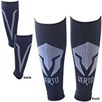 2-Pairs Verto Reflective Unisex Leg Compression Sleeves for Support & Circulation - Blue