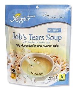 Xongdur Job's Tears Soup with Mulberry Green Tea No Sugar 85g. (17g.x5 Sachets) - Pack of 3 by Xongdur