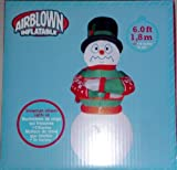 6 Ft - Airblown Inflatable Shivering Snowman That Lights Up!