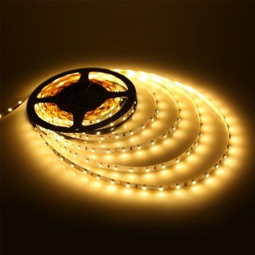 Dvw(Tm) Warm White 16.4Ft 5M Smd 3528 Non Waterproof 300Leds Led Flash Strip Light ,Led Flexible Ribbon Lighting Strip,12V