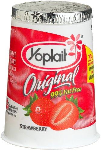Yoplait Yogurt Strawberry Original, 6-Ounce Cups (Pack of 12)