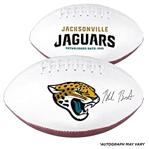Blake Bortles Jacksonville Jaguars 2014 NFL Draft Autographed White Panel Football -... by Sports Memorabilia