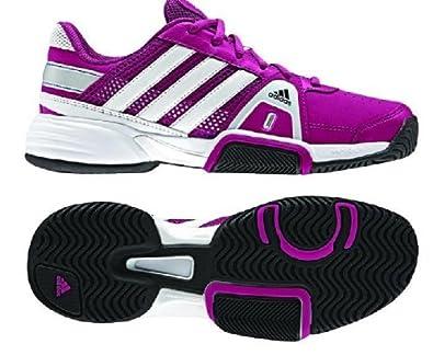 Buy Adidas Adipower Barricade Team 3 XJ Junior Tennis Shoe-Blast Pink Running White  Metallic Silver by adidas