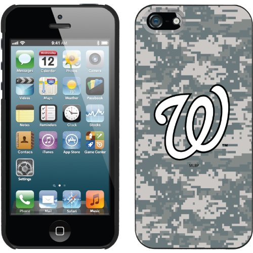 Special Sale Washington Nationals - Digi Camo W design on a Black iPhone 5 Thinshield Snap-On Case by Coveroo