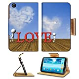 Samsung Galaxy Tab 3 8.0 Tablet Flip Case Cloud looking as haert symbol close up for adv or others purpose use 32955317 by MSD Customized Premium Deluxe Pu Leather generation Accessories HD Wifi 16gb 32gb Luxury Protector Case