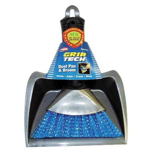 Carrand 92034 Clutch Tech Deluxe Dust Pan with Heavy Duty Brush